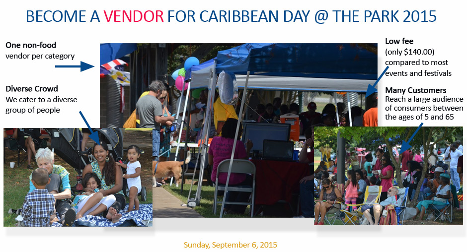 Vendor Caribbean day at the park, Huntsville, AL
